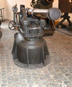 The Taarbäk Fort, 120 mm. steel howitzer for turrets
