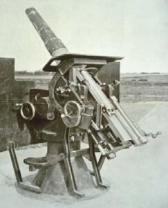75 mm anti aircraft gun at the Mosede Fort, Copenhagen fortifications