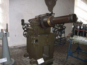 Copenhagen, The Bagvärd Fort, howitzer for the caponiere