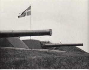21 cm. guns at the Flak Fort at Copenhagen