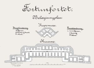 Copenhagen Fortifications, drawings of the Fortun Fort