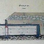 Original drawing, peacetime ammunition magazine, Copenhagen fortifications 1904