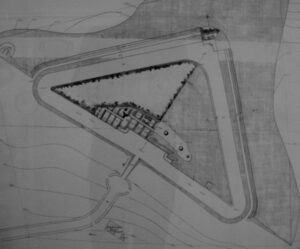 Drawing of the Gladsaxe Fort