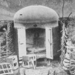 Gruson armored turret in position