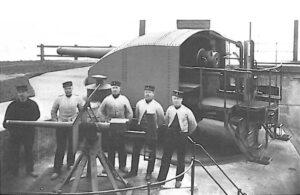The Prövestenen Fort, 17 cm. gun, Copenhagen fortifications