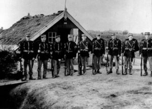 Soldiers at the Tömmerup stronghold