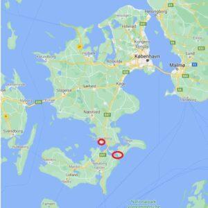 The position of the Grönsund Stronghold, Denmark