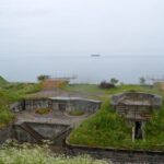 Emplacements for 120 mm. and 17 cm. guns at the Middelgrunds Fort, Copenhagen Fortifications
