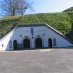 The casemate building at the Charlottenlund fort, Copenhagen fortifications