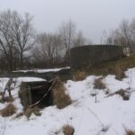 The Kongelunds Fort, stairs to the 40 mm battery
